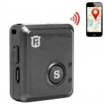 RF-V8S Real Time GSM Mini GPS Tracker GPRS Tracking SOS Communicator, with SOS Button, Black