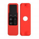 For Apple TV 4th Siri Remote Controller Shockproof Silicone Protective Case Pouch(Red)