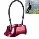 Safety Abseiling Belay Rappelling Device for Climbing, Random Color