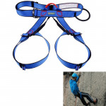 Climbing Harness Safe Seat Belt for Rock High Level Caving Climbing Adjustable Rappelling Equipment Half Body Guard Protect(Blue