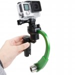 Special Stabilizer Bow Type Balancer Selfie Stick Monopod Mini Tripod for GoPro HERO4 /3+ /3(Green)