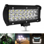 7 inch 72W 2400LM 3 Row LED Strip Light Working Refit Off-road Vehicle Lamp Roof Strip Light