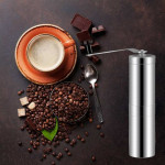 Portable Conical Burr Mill Manual Stainless Steel Hand Crank Coffee Bean Grinder, Capacity: 40g