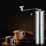 Portable Conical Burr Mill Manual Stainless Steel Bean Pepper Hand Crank Coffee Grinder, Gift Box Package