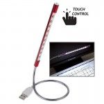Portable Touch Switch 10-LED USB LED Light(Red)