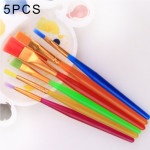 5 PCS 6 Pieces Paint Artist Brushes Set for Watercolor Acrylic and Oil Painting