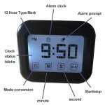 Kitchen Timer Digital Alarm Clock Large LCD Touch Screen Come with Night Light for Cooking Baking(Green)