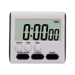 Kitchen Timer 24 Hours Digital Alarm Clock LCD Screen Magnetic Backing for Cooking Baking(Black)