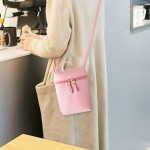 Ladies Simple Casual Shoulder Messenger Bag Small Change Mobile Phone Crossbody Bucket Bag