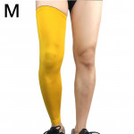 Professional Outdoor Sports Basketball Football Knee Pads Warm Compression Leg Protectors(Yellow Size: M)