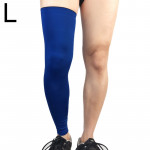 Professional Outdoor Sports Basketball Football Knee Pads Warm Compression Leg Protectors(Blue Size: L)