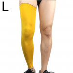 Professional Outdoor Sports Basketball Football Knee Pads Warm Compression Leg Protectors(Yellow Size: L)