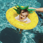 Kids Summer Water Fun Inflatable Pineapple Shaped Pool Ride-on Swimming Ring Floats, Outer Diameter: 87cm