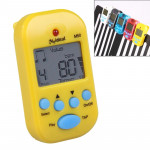 Mini Professional Electronic Piano Violin Clip High-quality Metronome Digital Tuner M50(Yellow)