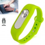 Wearable Wristband 4GB Digital Voice Recorder Wrist Watch, One Button Long Time Recording(Green)