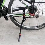 OQsport Double Installation Adjustable Bike Side Kickstand Kick Stand for Mountain Bicycle