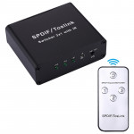 NK-3X1 Full HD SPDIF / Toslink Digital Optical Audio 3 x 1 Switcher Extender with IR Remote Controller