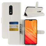 For OnePlus 6 Litchi Texture Horizontal Flip Leather Case with Holder & Card Slots & Wallet(White)