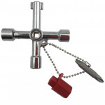 4 in 1 Multifunctional Cross Key Wrench with Circle Triangle Square Shape