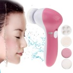 5 in 1 Beauty Care Brush Massager Scrubber Face Skin Care Electric Facial Cleanser