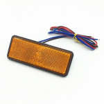 2 PCS Motorcycle Car Trailer DC 12-15V 24-LED Indicator Lamp Reflector Rectangle Marker Tail Light, Light Color: Red (Steady + F