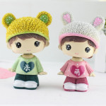 Creative Resin Cartoon Shaking Head Adorkable Couple Ornaments Car Home Bedroom Decoration Gifts