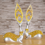 Creative European Style Sika Deer Resin Ornaments Gift Home Decor, Size:28.5*14*7cm(Gold)