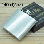 140mL (5oz) Outdoor Sports Handy Home Travel Wild Stainless Steel Portable Hip Flask(with Small Funnel)(Silver 140mL (5oz))