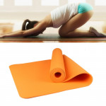 6mm Thickness Eco-friendly TPE Anti-skid Home Exercise Yoga Mat, Size:183*61cm(Orange)