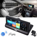 7 inch Car DVR Rearview Mirror Dual Camera WiFi GPS Driving Video Recorder Bluetooth Hands-free Car Dash Cam, 3G Version