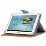 Universal Crazy Horse Texture Horizontal Flip Leather Case with Holder for 10 inch Tablet PC(Orange)