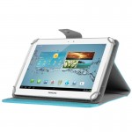 Universal Crazy Horse Texture Horizontal Flip Leather Case with Holder for 10 inch Tablet PC(Blue)