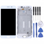 TFT Materials LCD Screen and Digitizer Full Assembly with Frame for Vivo X9(White)