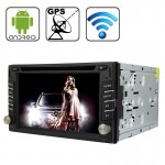 Rungrace Universal 6.2 inch Android 4.2 Multi-Touch Capacitive Screen In-Dash Car DVD Player with WiFi / GPS / RDS / IPOD / Blue