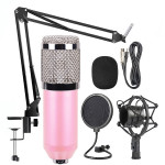 BM-800 Mic Kit Condenser Microphone with Adjustable Mic Suspension Scissor Arm, Shock Mount and Double-layer Pop Filter, For Stu