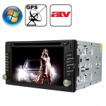 Rungrace Universal 6.2 inch Windows CE 6.0 TFT Screen In-Dash Car DVD Player with Bluetooth / GPS / RDS / ATV