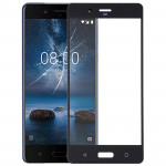 Front Screen Outer Glass Lens for Nokia 8(Black)