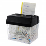 Mini USB Paper Shredder with Letter Opener(Black)