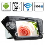 Rungrace 8.0 inch Android 4.2 Multi-Touch Capacitive Screen In-Dash Car DVD Player for KIA K2 with WiFi / GPS / RDS / IPOD / Blu