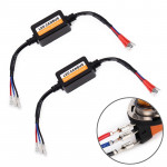 2 PCS H15 LED Headlight Canbus Error Free Computer Warning Canceller Resistor Decoders Anti-Flicker Capacitor Harness