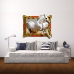 Wall Decor 3D Animal Removable Wall Stickers, Size: 68cm x 58cm