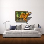 Wall Decor 3D Animal Removable Wall Stickers, Size: 75cm x 58cm