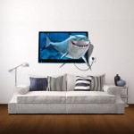 Wall Decor 3D Animal Removable Wall Stickers, Size: 85cm x 58cm