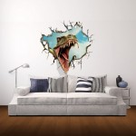 Wall Decor 3D Animal Removable Wall Stickers, Size: 58cm x 66cm