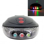 Shell Shape Bicycle Safety Rear Warning Tail Light with 2 Laser Beams and Colorful Lights