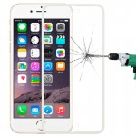 0.3mm Dustproof Explosion-proof Full Screen Narrow Bezel Tempered Glass Film for iPhone 6(White)