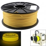 ABS 3.0 mm Luminous 3D Printer Filaments, about 135m(Yellow)