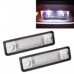 2 PCS DC 12V 2W 120LM 6000K LED License Plate Light 18-SMD Bulbs Lamps for Astra F 91-98, G Estate(F69) 98-05, Opel Corsa B 93-0