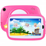 Kids Education Tablet PC, 7.0 inch, 512MB+4GB, Android 4.4 Allwinner A33 Quad Core, WiFi / Bluetooth, with Holder Silicone Case