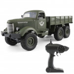 Voiture télécommandée Transporter-1 Full Body 1:16 Mini 2.4GHz RC 6WD Tracked Hors Route Camion Militaire Jouet Army Vert - W...